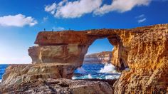 The Azure Window, a natural stone arch near Dwejra Beach, Gozo, Malta (© SIME/eStock Photo) – 2016-03-16 [http://www.bing.com/search?q=Azure+Window+limestone+arch&form=hpcapt&filters=HpDate:%2220160316_0700%22]