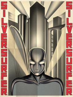 Art Deco Superheros: Silver Surfer, Grégoire Guillemin