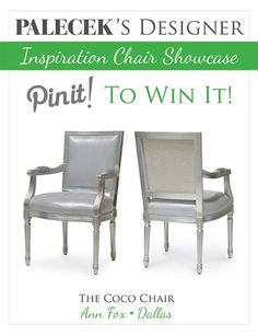REPIN and VOTE to #win this PALECEK Designer Inspiration Chair featured by @Kim Schulz Shore Decorating. Learn all the contest details here: http://www.southshoredecoratingblog.com/2013/04/it-is-my-great-honor-to-introduce-ann.html