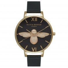 Our Black & Gold Moulded Bee has stolen our heart. It's one watch we can't be without! <3