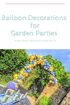 Balloon decorations for Garden Parties - Creative Decorations Small Balloons, Number Balloons, Letter Balloons, Balloon Wall, Balloon Arch, Retirement Parties, Birthday Parties, Gender Reveal Balloons, Personalized Balloons