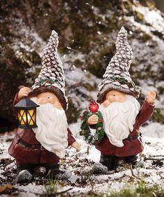 Another great find on #zulily! Santa Gnome Figurines Set #zulilyfinds