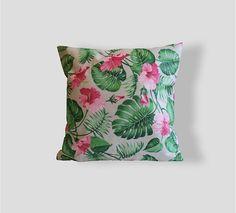 Tropical Pillow Palm leaves Pattern 16x16 Pillow Decorative
