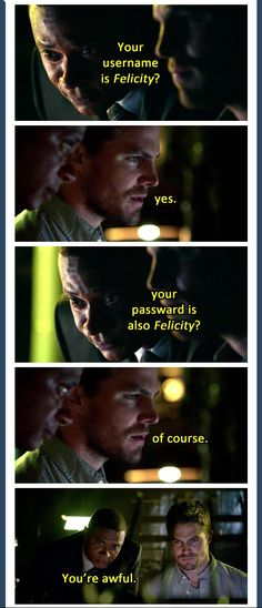 #Olicity haha. Pretty sure this isn't real, but love it!!