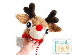 SALE Reindeer Hat with Antlers READY to SHIP for by IraRott