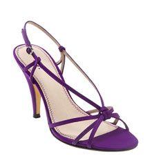 Strappy purple heels for bridesmaids