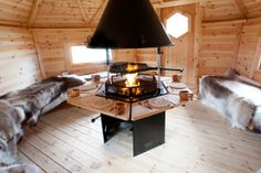Sloping Wall BBQ Hut Log Cabin by Arctic Cabins & Forest Log Cabins - Forest Log Cabins - Custom Log Cabins and Summerhouses in Aberdeen. Table Bbq, Dining Table, Arctic Cabins, Barbecue Original, Design Barbecue, Bbq Hut, Outside Grill, Shed Of The Year, Indoor Grill