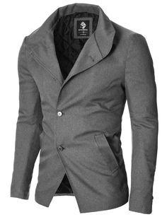 MODERNO Mens Casual Blazer Jacket (MOD14520B) Gray