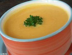 Potage de carottes et de navet à l'érable