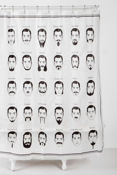 Mustache Shower Curtain #urbanoutfitters