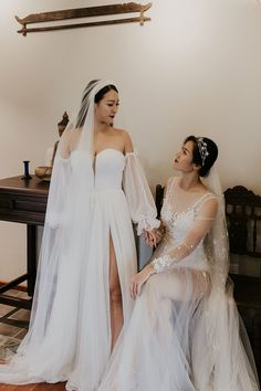 We can't get over how stunning these brides were in their elegant gowns | Image by Thien Tong Photography Tulle Wedding Gown, Wedding Dresses, Elegant Ball Gowns, Romantic Lace, Gowns Of Elegance, Bridal Style, Wedding Styles, Dream Wedding, Wedding Inspiration