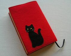 Black cat book jacket.  Lots of great ideas on this website