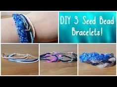 Three Seed Bead Bracelet Patterns   AllFreeJewelryMaking.com