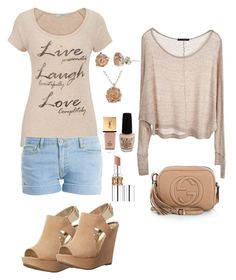 """""""Le silence ..."""" by lalynany ❤ liked on Polyvore featuring maurices, Brandy Melville, Carlos by Carlos Santana, Paul & Joe, Gucci, Claire Hart Design, Yves Saint Laurent and OPI"""