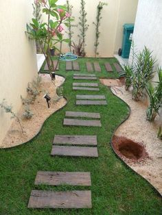 como fazer um jardim no quintal cimentado - Pesquisa Google