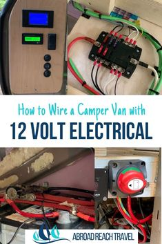 How to wire a camper van with a 12 volt electrical system, includes step by step instructions, video, and materials list. Ford Transit Connect Camper, Ford Transit Camper, Cargo Trailer Conversion, Camper Van Conversion Diy, Van Insulation, Diy Camper Trailer, Camper Van Life, Electrical Wiring Diagram, Diy Rv