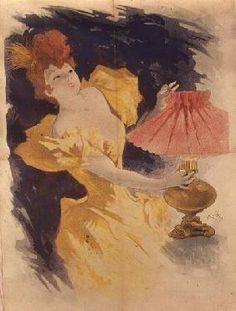 Jules Chéret - Saxoleine (Advertisement for lamp oil)