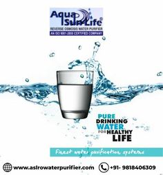 Pure Drinking Water For Healthy Life! ASL Enterprises - one of the leading Water Purifier Manufacturers in Gurgaon / Gurugram, Haryana.We are loaded with the most advanced technologies that help us design customized solutions at competitive market prices. 📲: +91- 9818406309 🌐: www.aslrowaterpurifier.com 📧: aslenterprises35@gmail.com #Waterpurifier #purifier #filter #WaterRO #Waterfiltering #PureWater #Healthywater #AslEnterprises Kent Ro Water Purifier, Reverse Osmosis Water, Healthy Water, Water Purification, Water Filter, Drinking Water, Healthy Life, Pure Products, Design