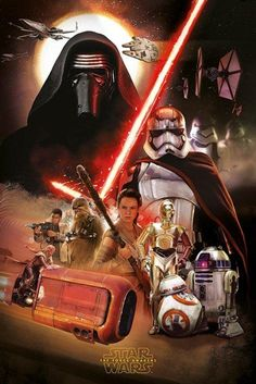 Star Wars The Force Awakens Montage Poster