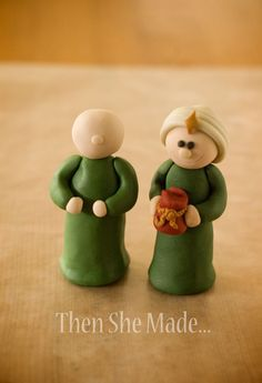 Ok, are you ready? I am. Here is the first of several tutorials for the clay nativity set. I'm starting with a Wiseman.  Now, I must ad...