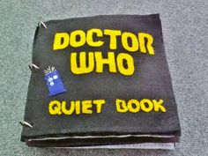 Doctor Who themed quiet book PATTERN BOOK $8