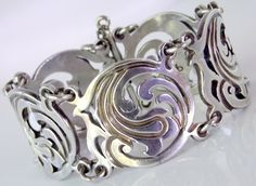 Taxco Ramirez Mexican 980 Silver Bracelet