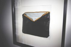 leather clutch, inside and outside