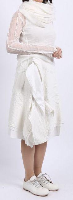 rundholz dip - Shirt Tüll Langarm frozen pigment - Sommer 2016 - stilecht - mode für frauen mit format...