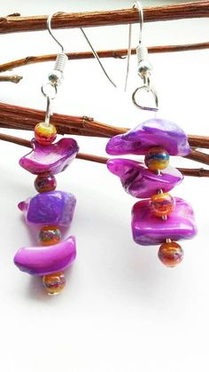 Hey, I found this really awesome Etsy listing at https://www.etsy.com/uk/listing/545064047/purple-shell-earrings-shell-earrings