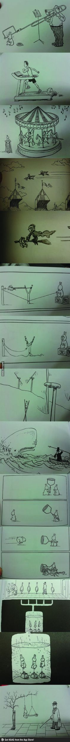 Dawn of the suicidal bunni http://vaingloriouspixel.com/funny-cartoons/what-i-found-in-the-kidds-section/