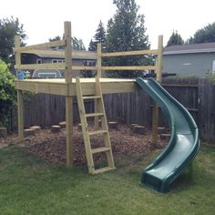 Homemade swing set, play structures for kids, outdoor play structures, ou. Kids Outdoor Play, Outdoor Play Areas, Kids Play Area, Outdoor Toys, Backyard Fort, Backyard For Kids, Backyard Projects, Backyard Ideas, Play Structures For Kids