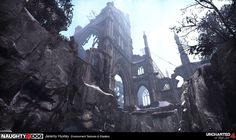 by Jeremy Huxley, Environment Artist (Textures & Materials) at Naughty Dog Environment Concept Art, Environment Design, Game Environment, Landscape Concept, Fantasy Landscape, The Vampire Chronicles, Fantasy Concept Art, Fantasy Art, Composition Art