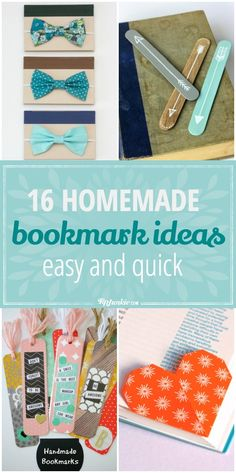 16 Easy and Quick Homemade Bookmark Ideas - Tip Junkie