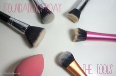 Find the perfect tools and brushes for foundation application