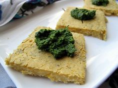 grown-up food: aka savoury chickpea flatbread with kale basil pesto