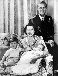 The Queen showing off her young family in 1951 the year before ascending the throne Photo (C) REX