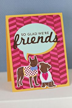 Glad We're Friends Card by Erin Lincoln for Papertrey Ink (January 2014)