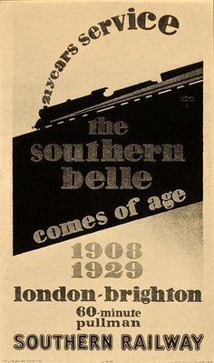 1933 Horace Taylor Southern Belle Train SR Poster Travel Transportation POSA6 Brighton Belle, London Brighton, Southern Railways, Southern Belle, Travel Posters, Transportation, Train Stations, Bournemouth, Trains