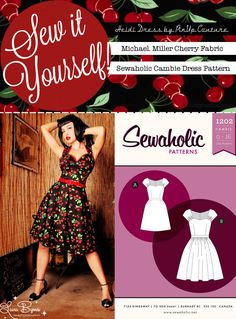 Sew It Yourself: Very Cherry | Lucky Lucille - will have to look at this. My daughter loves retro fashion.