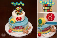 Old fashioned game fun!  Rubik's cube, yo-yo snd kendama cake.