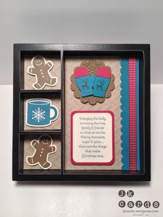 """Stampin' Up!, Stylin' Stampin' Squad Blog Hop, Scentsational Season, Make a Mitten, More Merry Messages, Festival of Prints DSP Stack, Chevron Embossing Folder, Delicate Designs Embossing Folder, Holiday Collection Framelits. Mitten Builder Punch, 2 3/8"""" Scallop Circle, Scallop Trim Border Punch, Raspberry Ripple Stitched Satin Ribbon"""