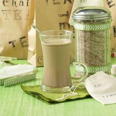 Chai Tea Mix Recipe...I think I'd rather use evaporated milk rather than fresh 2% milk for each cup, but hey