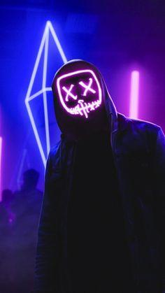 Skull Wallpaper, Screen Wallpaper, Hd Phone Wallpapers, Iphone Wallpaper, Led Light Mask, Purge Mask, Super Pictures, Violet Aesthetic, Hacker Wallpaper