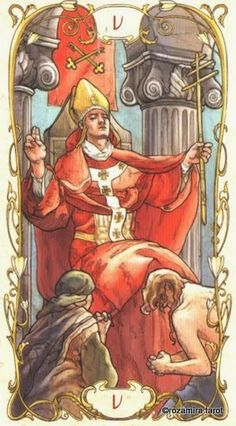 <({ The Hierophant })> Tarot Card by Mucha ~ 5