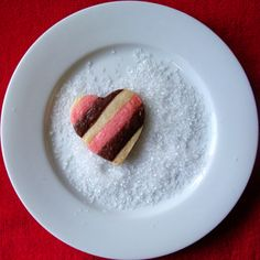 Neapolitan Heart Valentine Cookie
