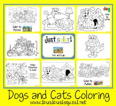 Cats And Dogs Coloring Printables