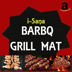 Amazon.com : i-Sana Barbq Grill Mat, Set Of 2, Non-Stick BBQ Grilling Mats, 15.7…