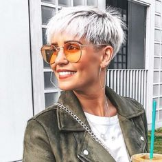 Coolest Short Pixie Cuts and Hairstyles Trends in Trendy hairstyles and colors Women hair colors; Coolest Short Pixie Cuts and Hairstyles Trends in Trendy hairstyles and colors Women hair colors; Thin Hair Cuts, Long Thin Hair, Short Grey Hair, Short Blonde, Short Hair Cuts For Women, Short Hairstyles For Women, Blonde Pixie, Long Cut, Grey Short Hair Styles