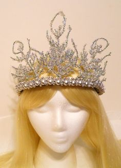 Silver Snow Ice Crown Tiara Queen Princess by MyFairyJewelry, $65.00