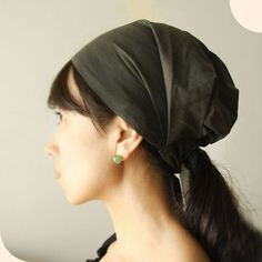 Head covering scarf Head wrap cotton Army Green or by Mercato, $18.00